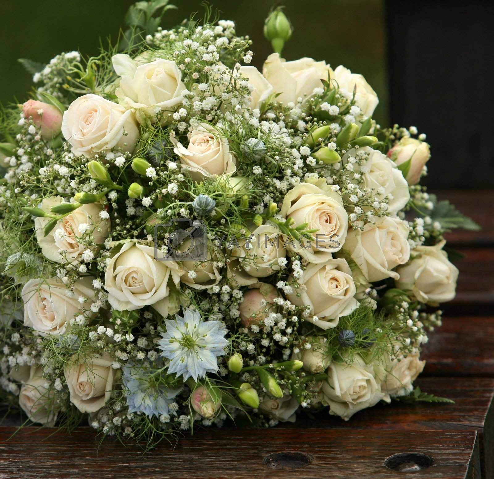 The forgotten wedding bouquet from roses