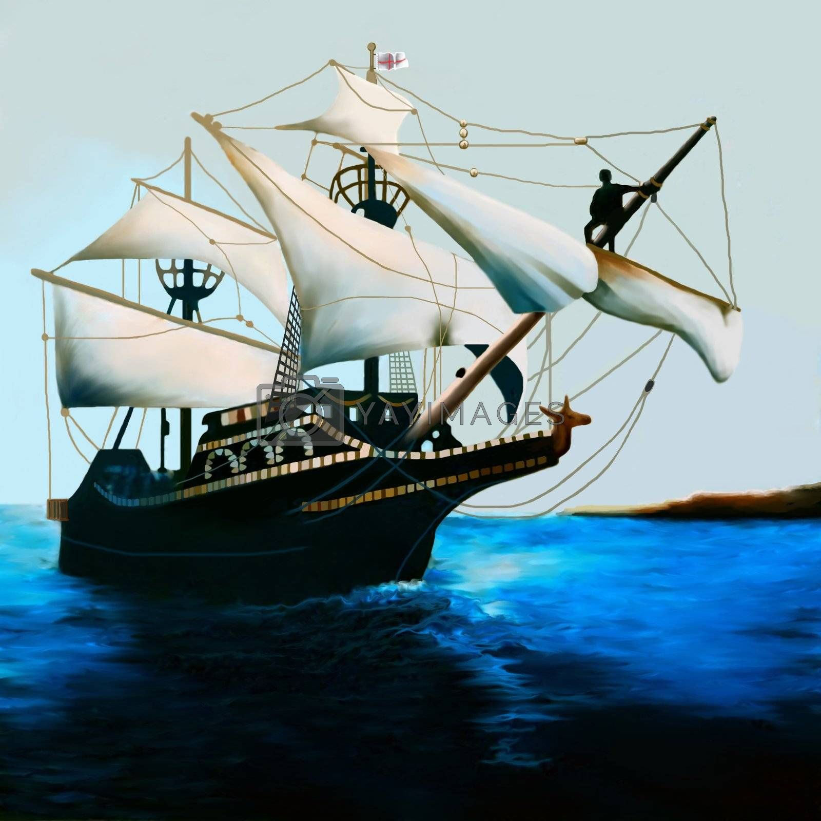 The Golden Hind is an English galleon best known for its circumnavigation of the globe between 1577 and 1580, captained by Sir Francis Drake.