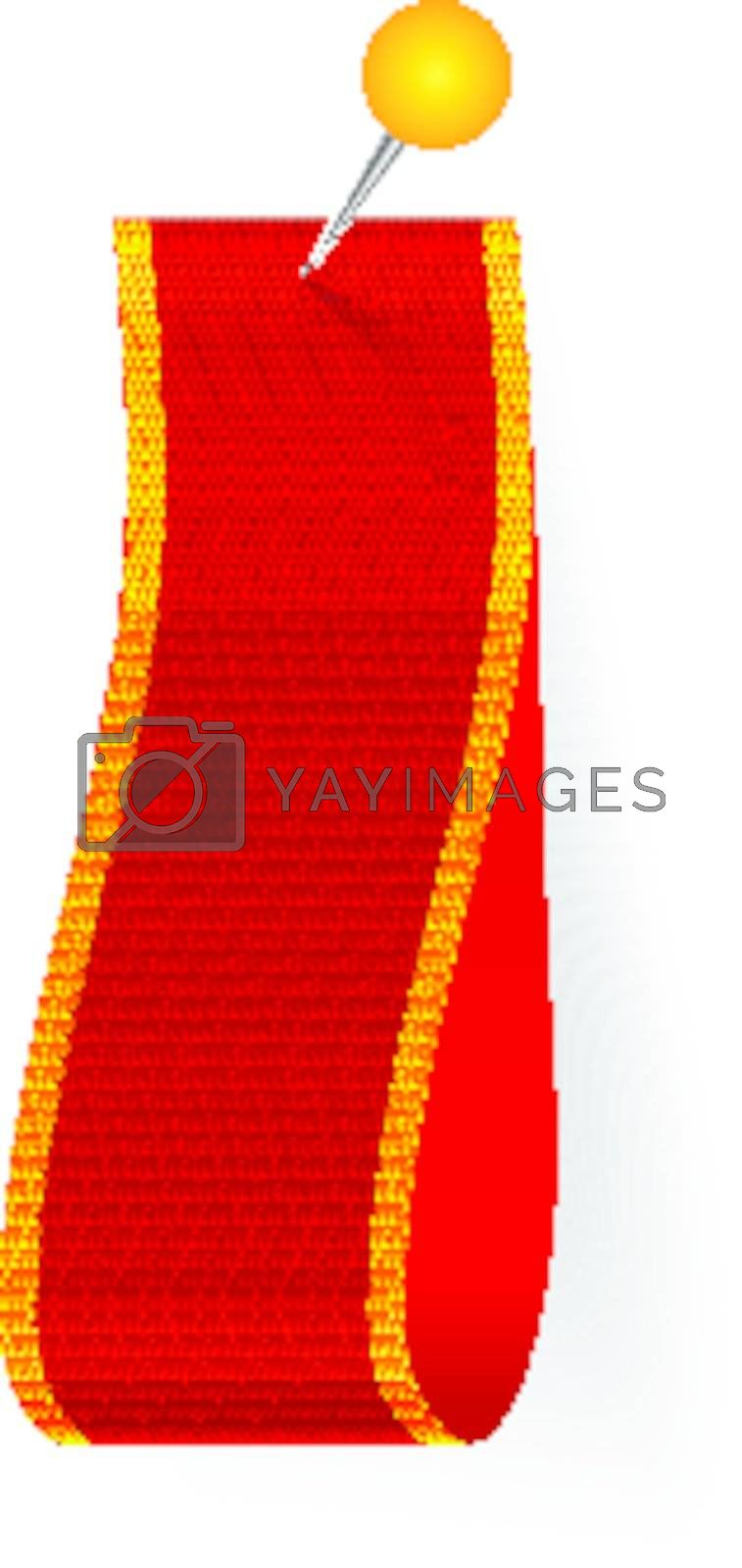 Vector Fabric Tag Label isolated on white background. Place you text inside