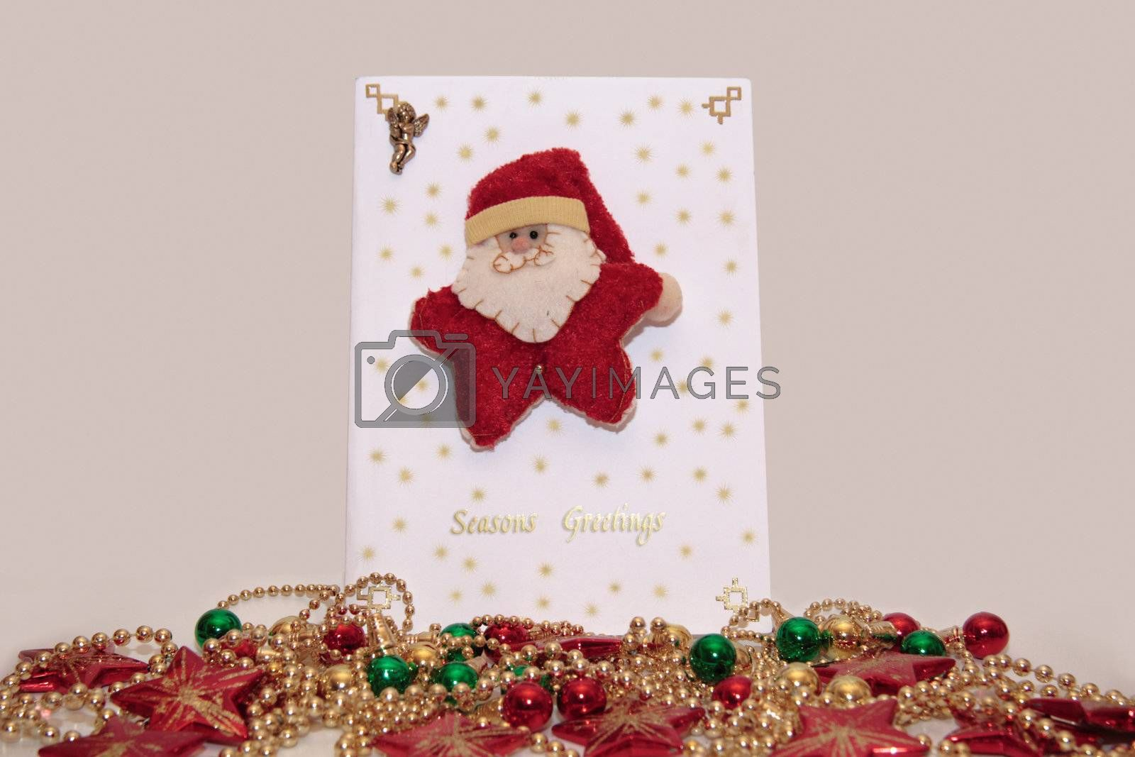 xmas card with a decorated background