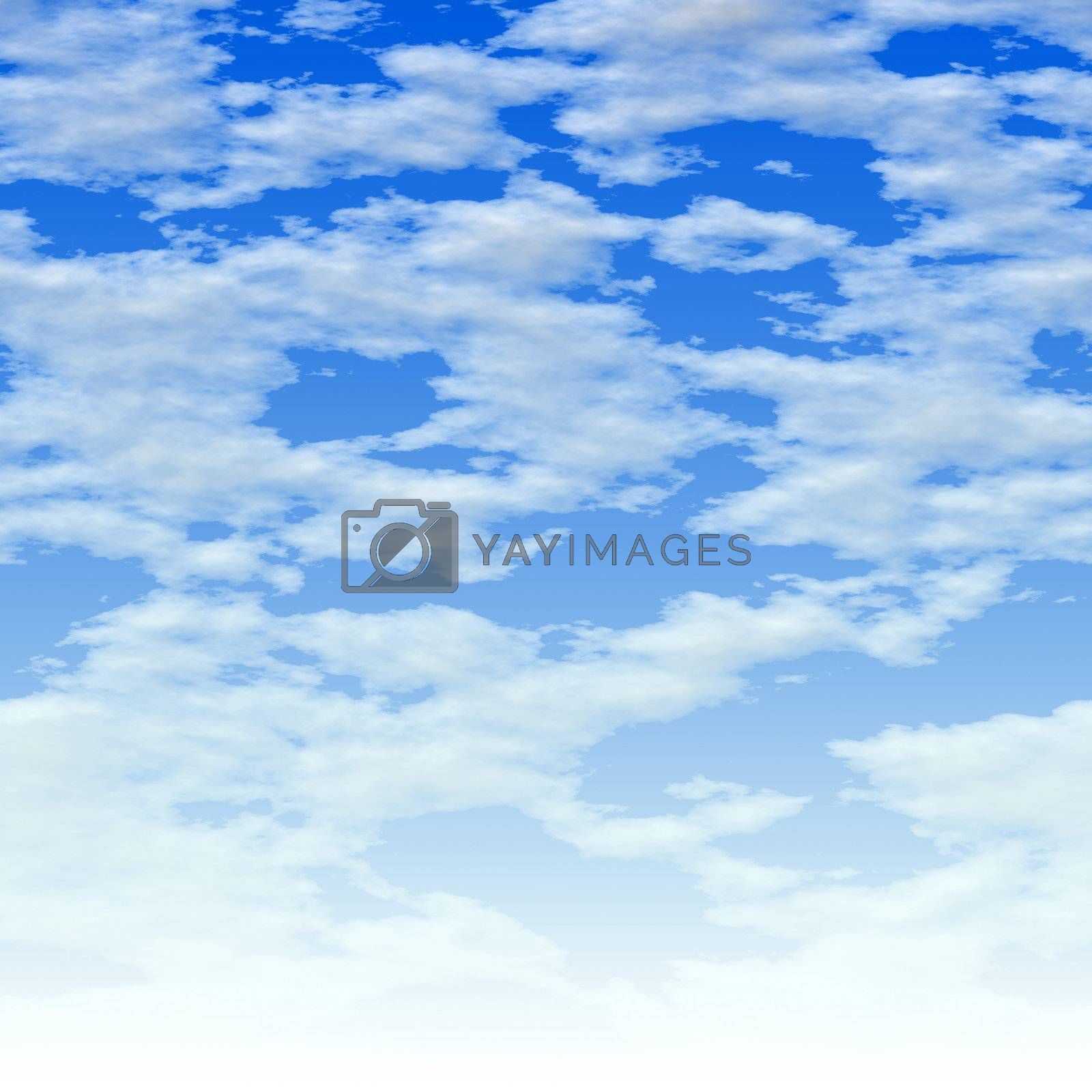 Here is a simple clouds background - it fades to white at the bottom.  This tiles seamlessly from side to side.