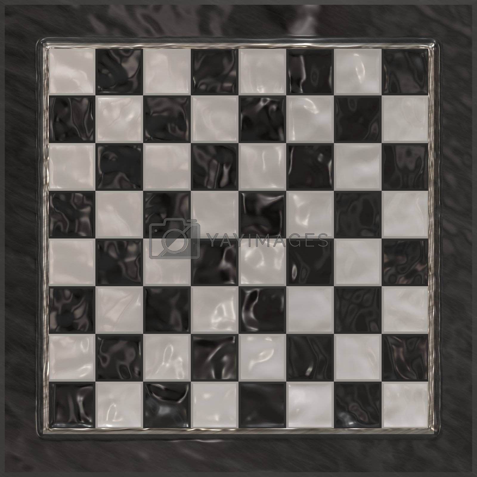 A classy chessboard background with shiny relections.