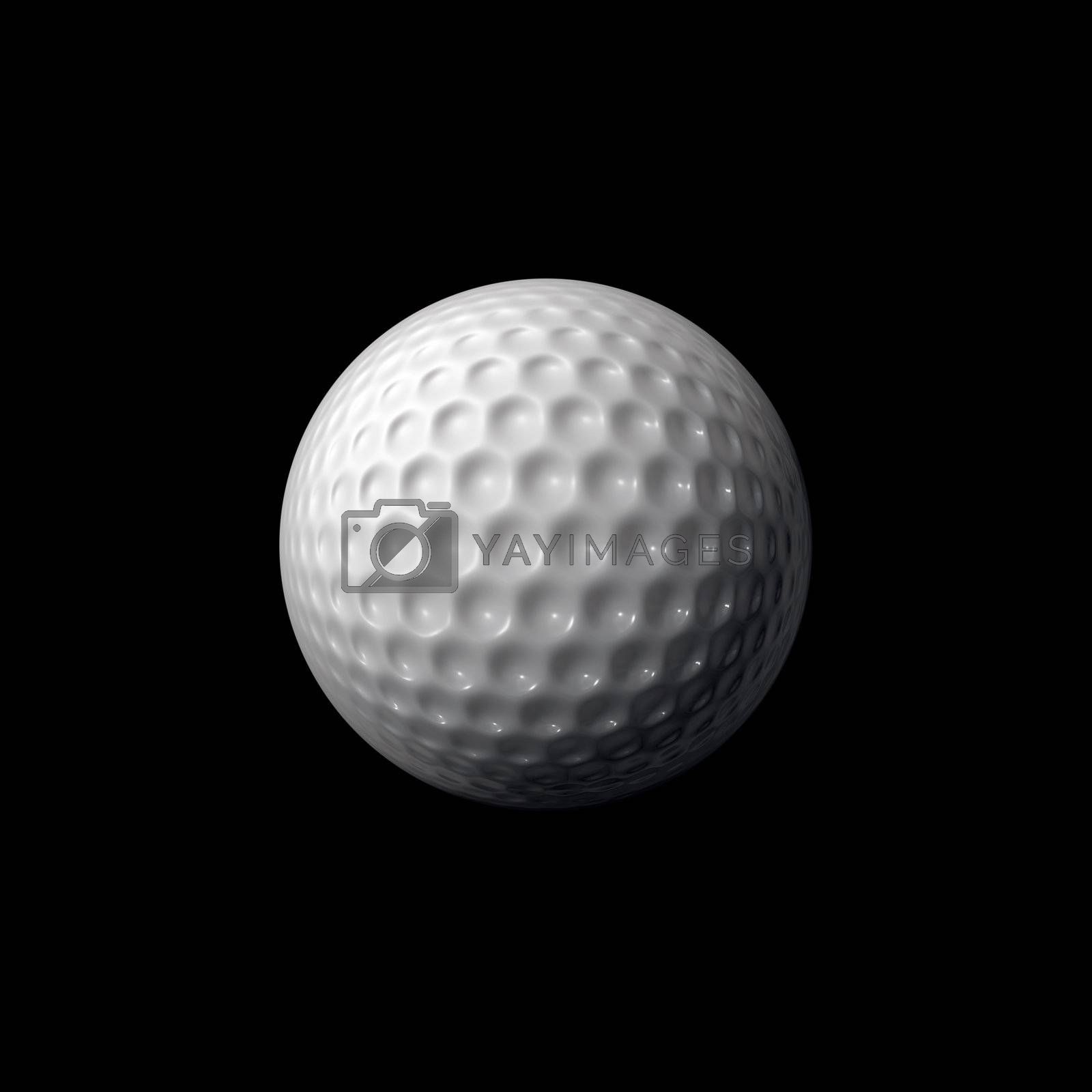 A white gold ball isolated over a black background.