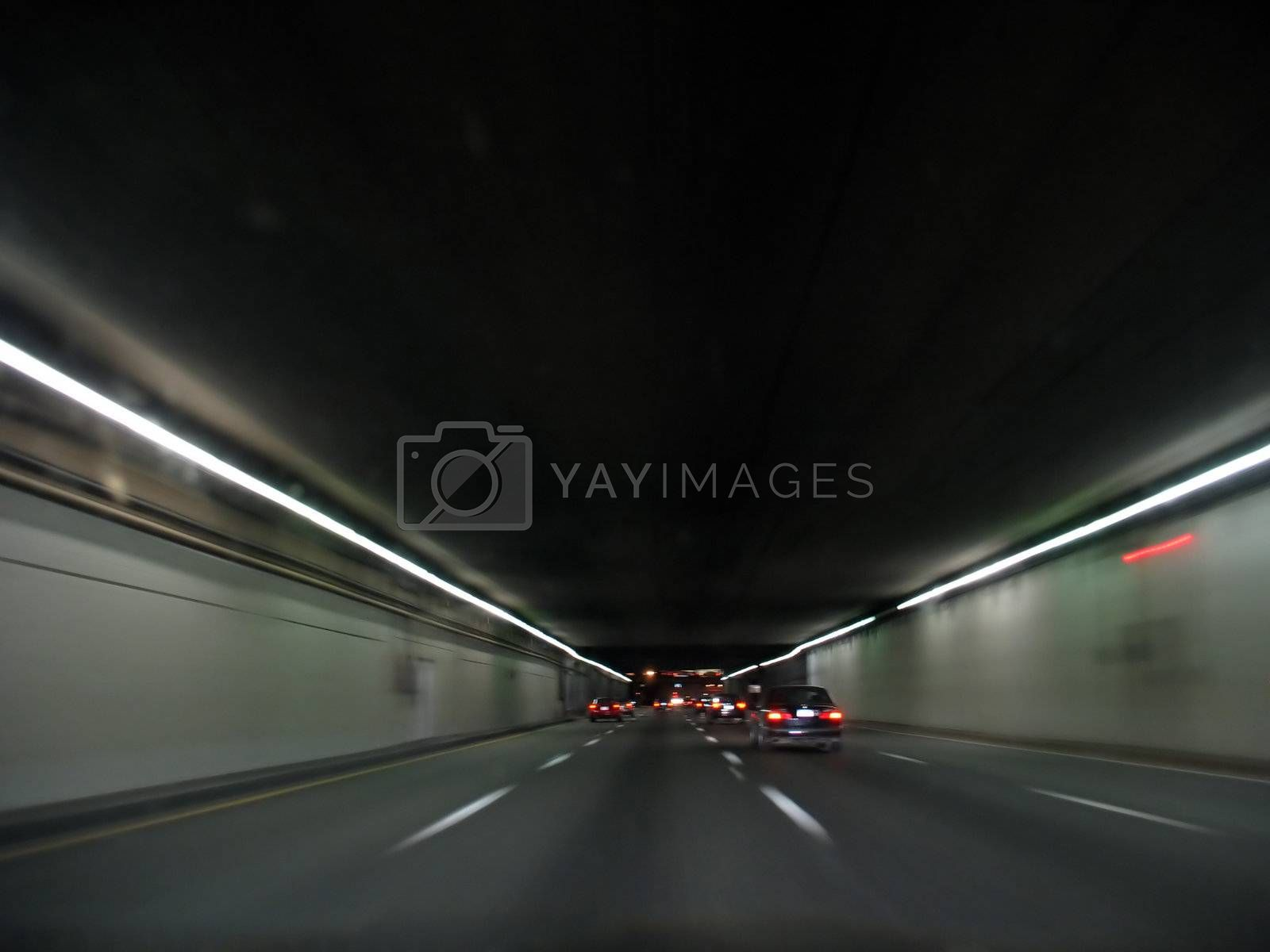 Tunnel at Night by graficallyminded