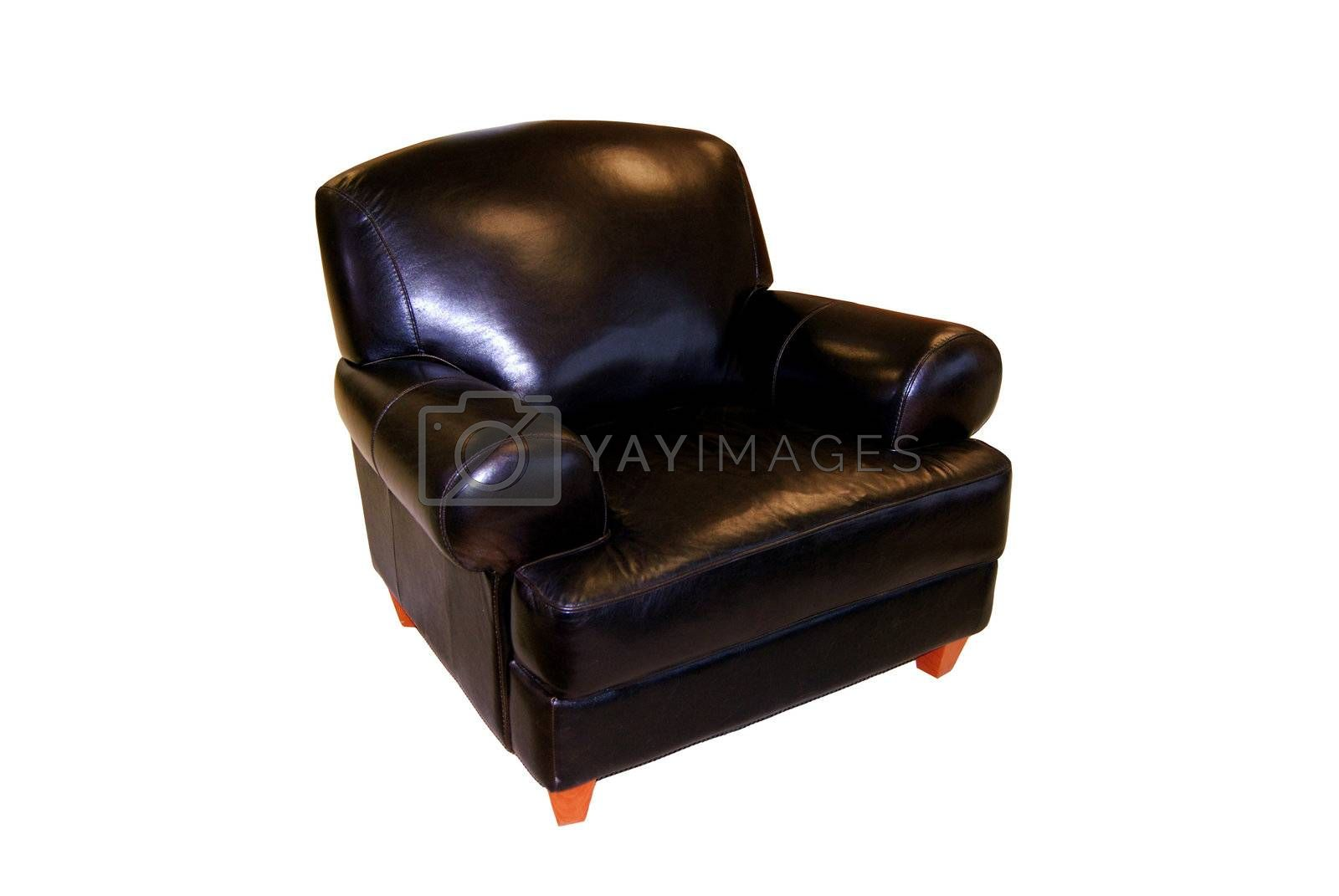 black leather chair by graficallyminded