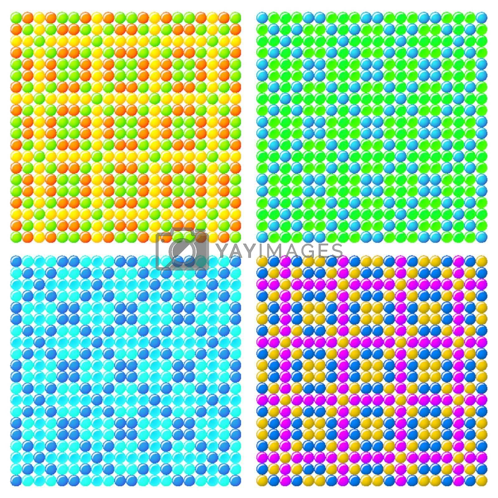 4 Seamless Vector Candy Backgrounds