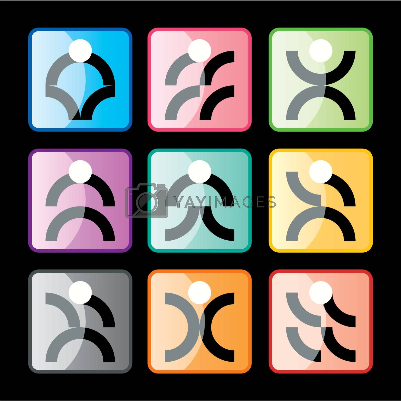 Abstract Peoples Pictogram