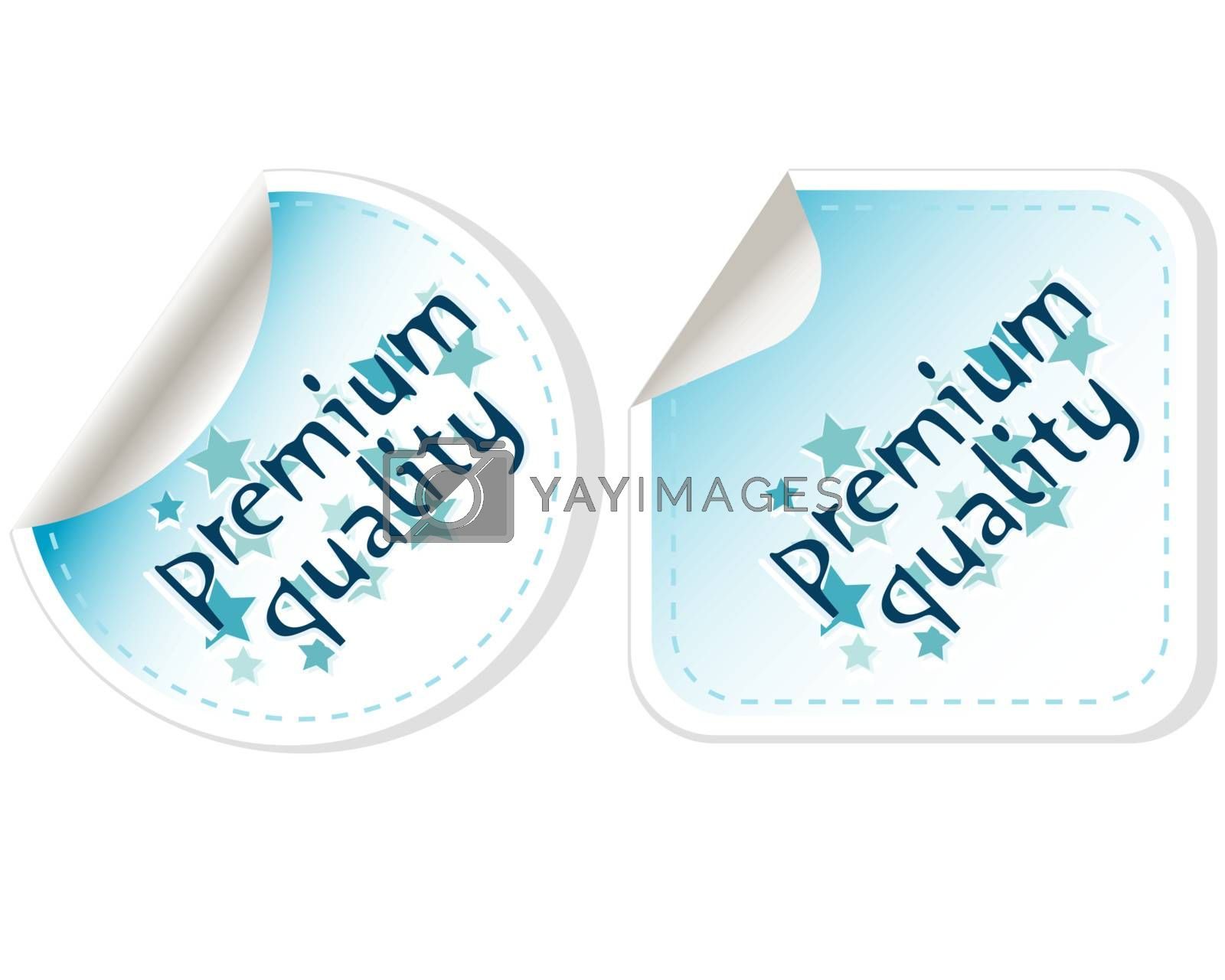 Premium Quality vector Button Label set isolated on white