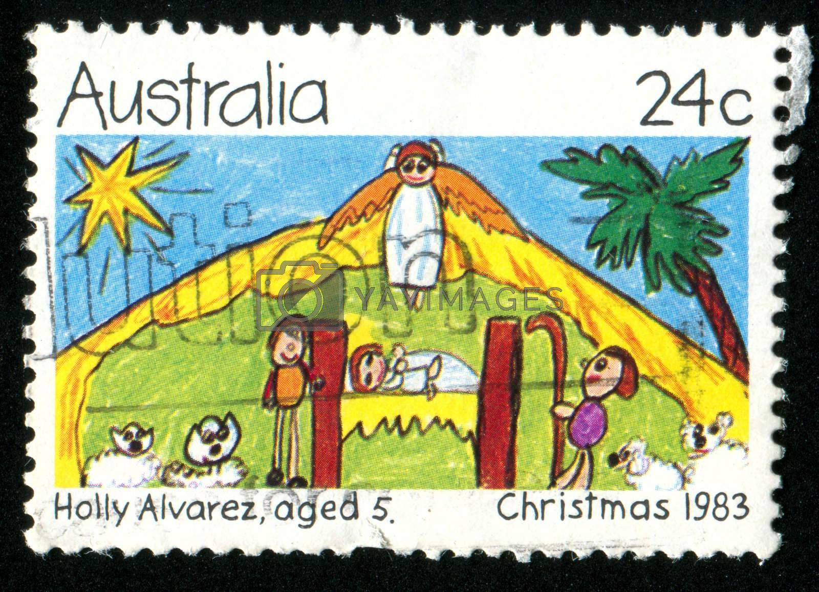 AUSTRALIA - CIRCA 1983: stamp printed by Australia, shows angel, circa 1983