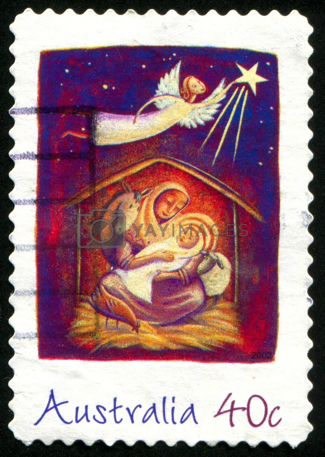 AUSTRALIA - CIRCA 2002: stamp printed by Australia, shows Christmas, circa 2002