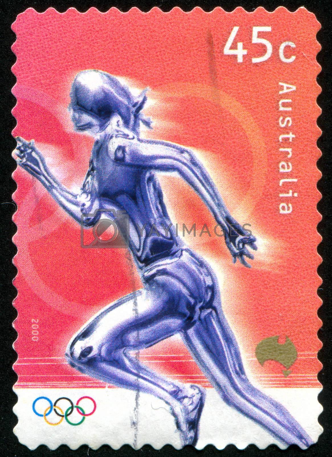 AUSTRALIA - CIRCA 2000: stamp printed by Australia, shows runner, circa 2000