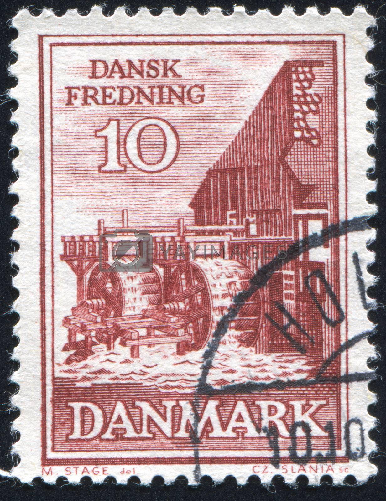 DENMARK - CIRCA 1981: stamp printed by Denmark, shows European Urban, circa 1981