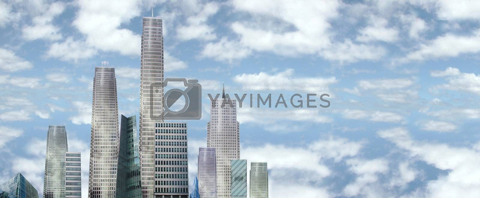 Royalty free image of sky scrapers by morrbyte