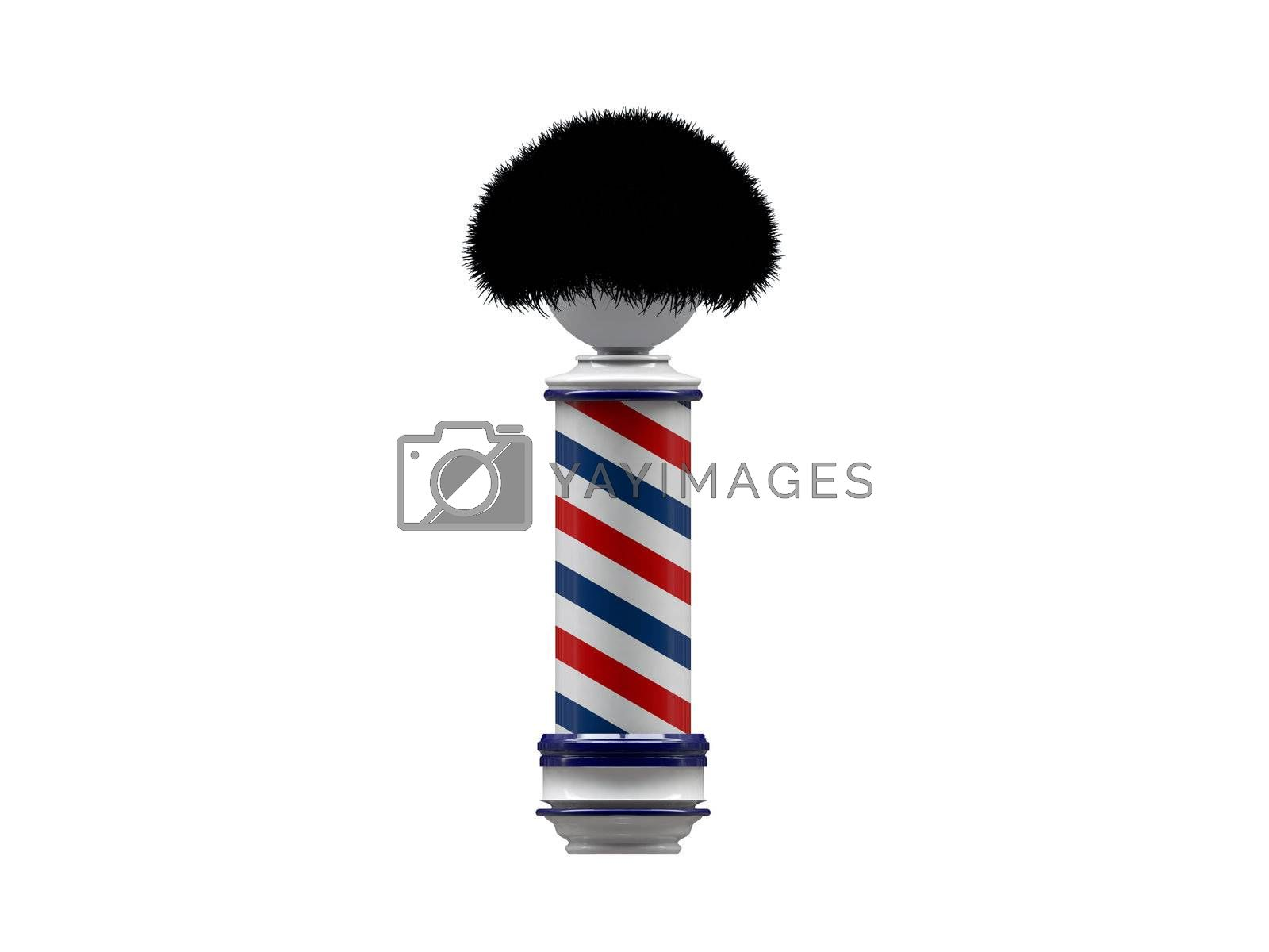 barber pole sign isolated on white background