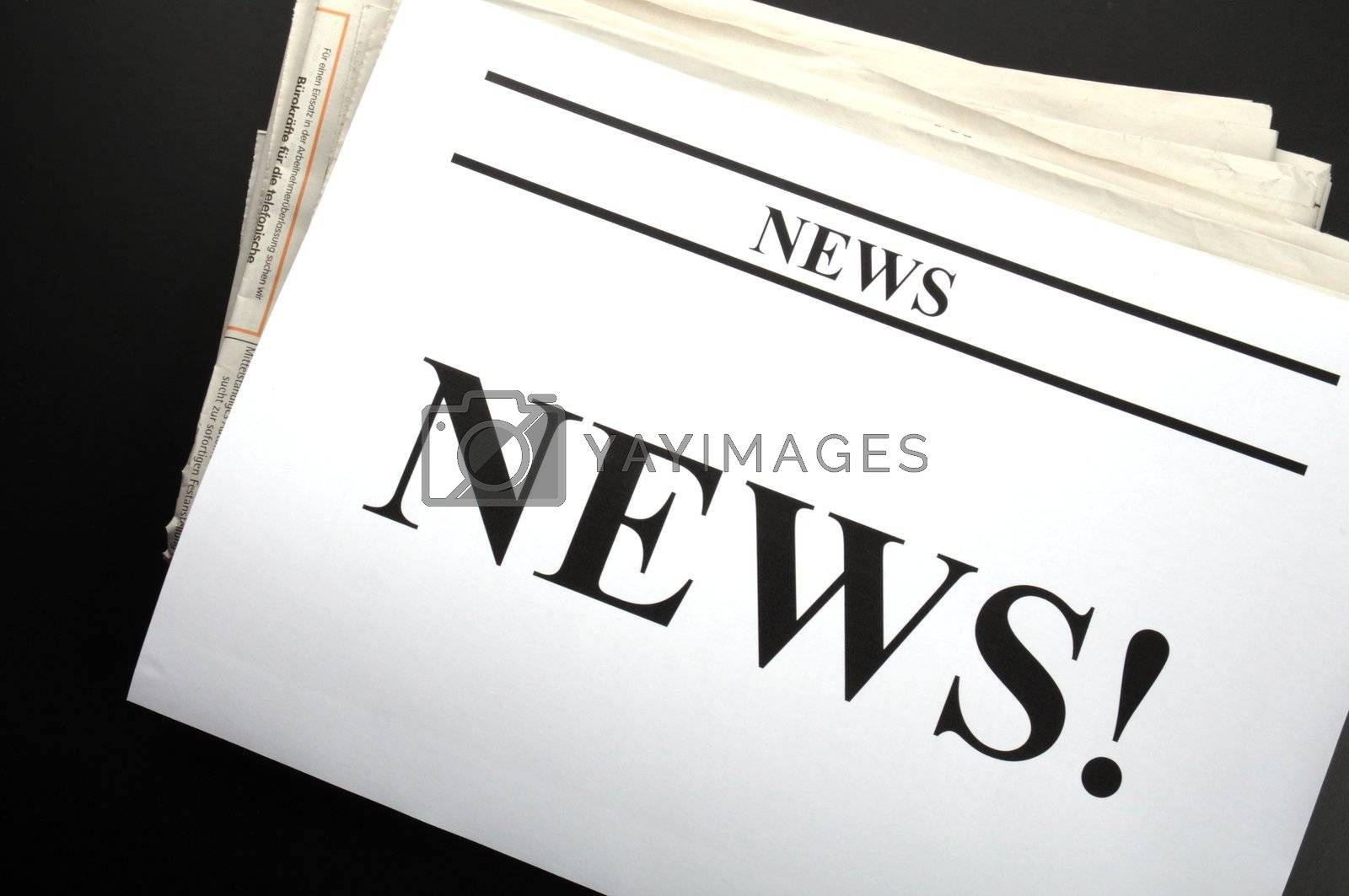 Royalty free image of newspaper by gunnar3000