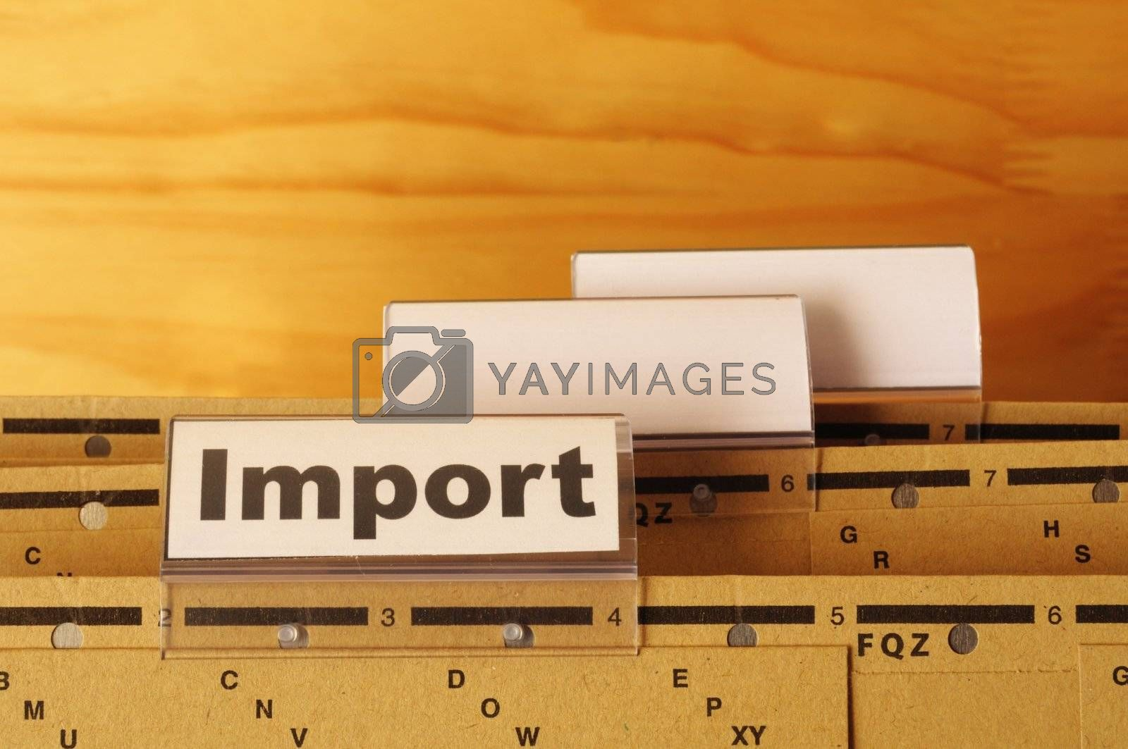 Royalty free image of import by gunnar3000