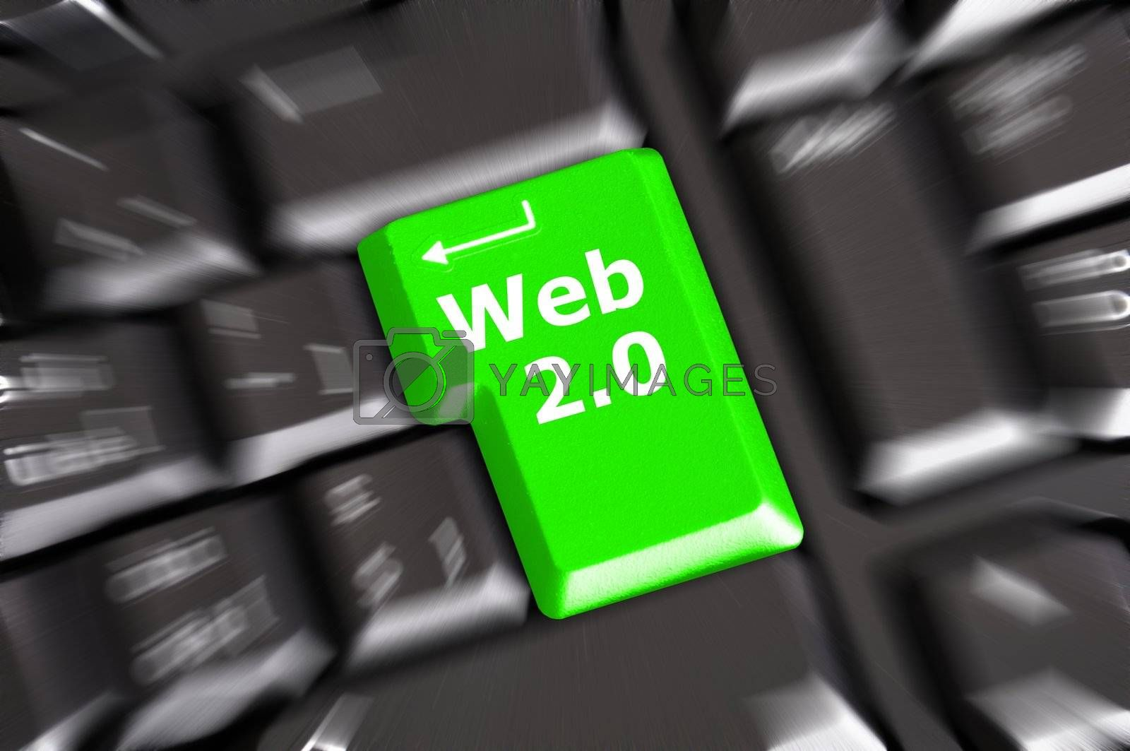 rss web 2 0 showing blog or forum in the internet concept