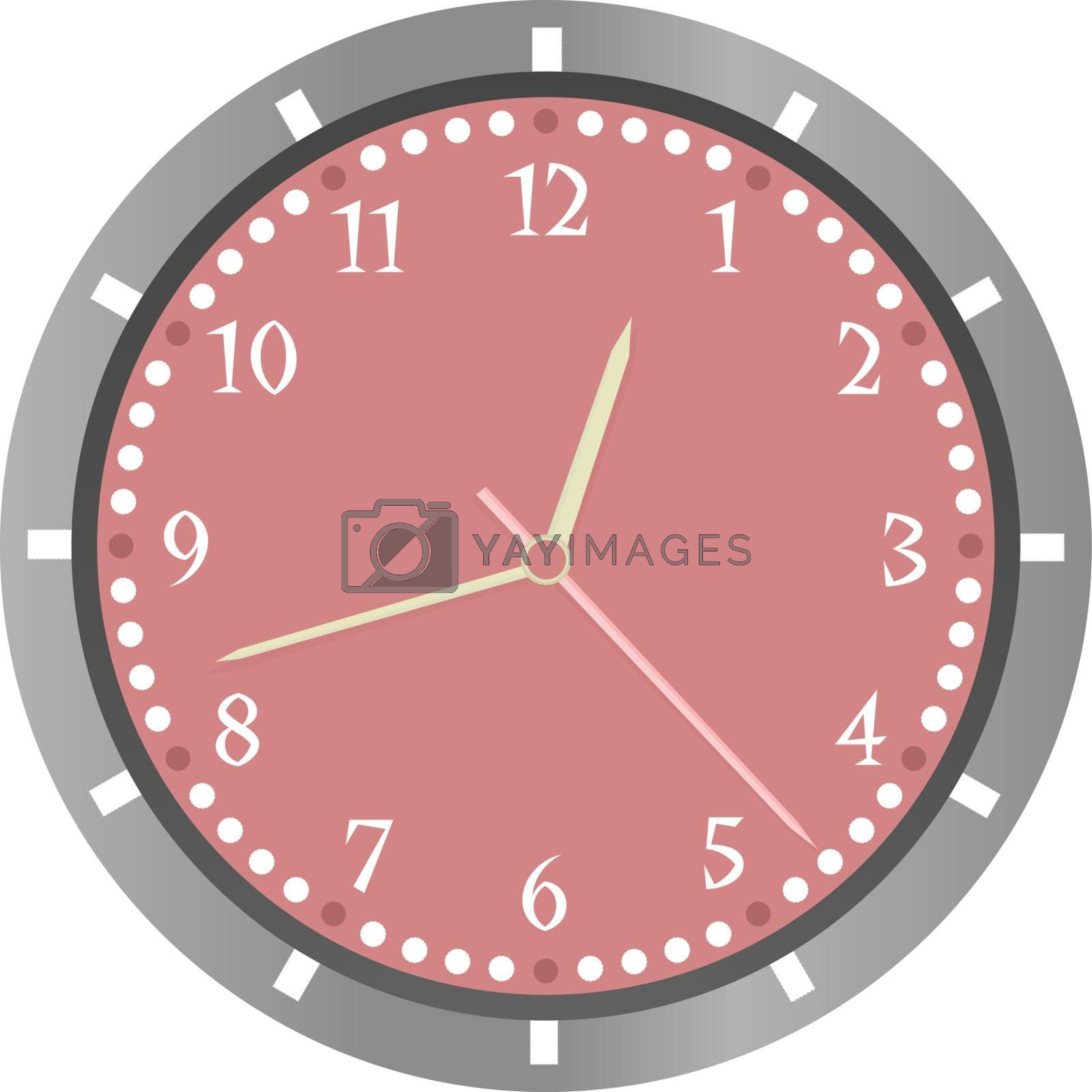 wall clock vector isolated on white background
