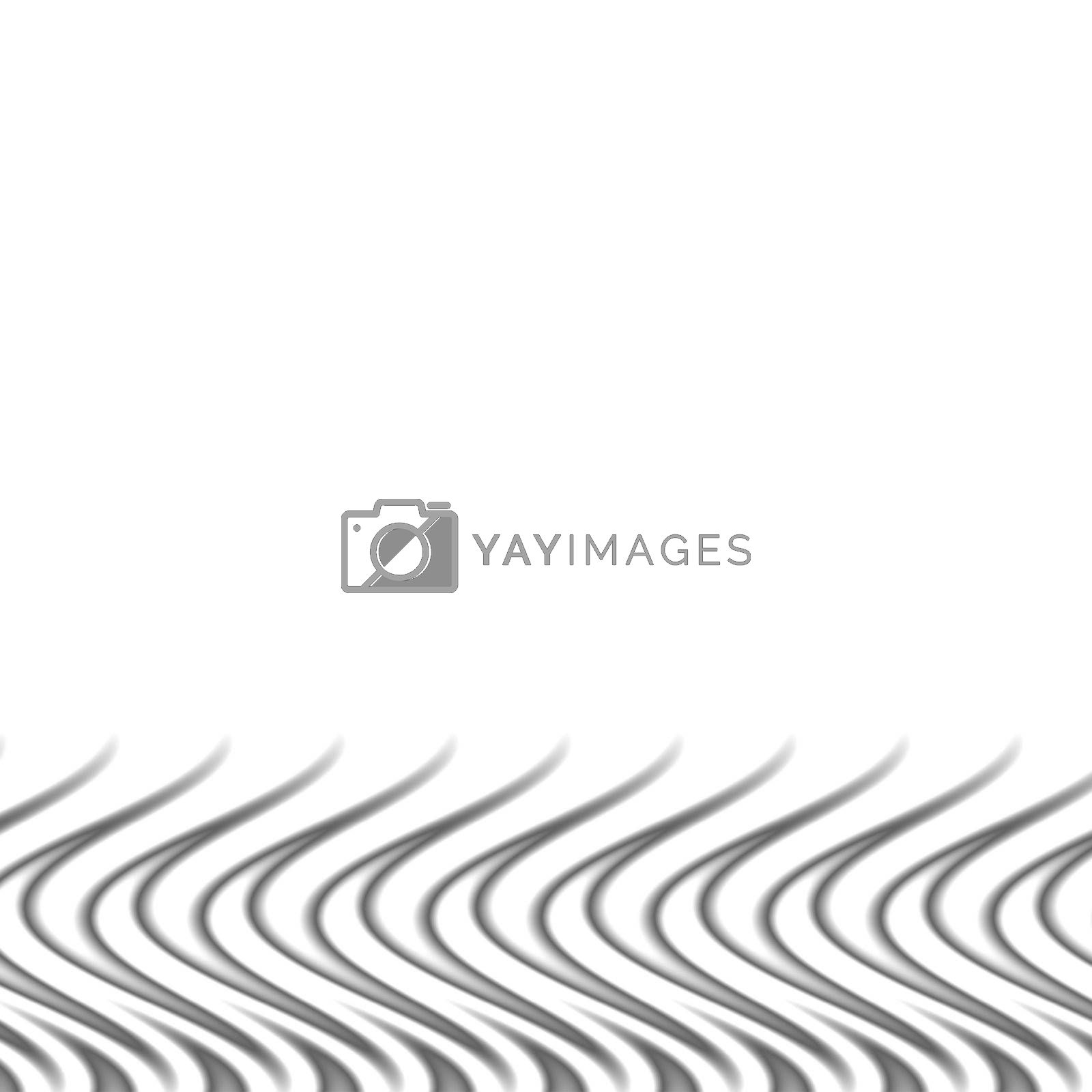 Silver flames border - a swirly abstract background illustration