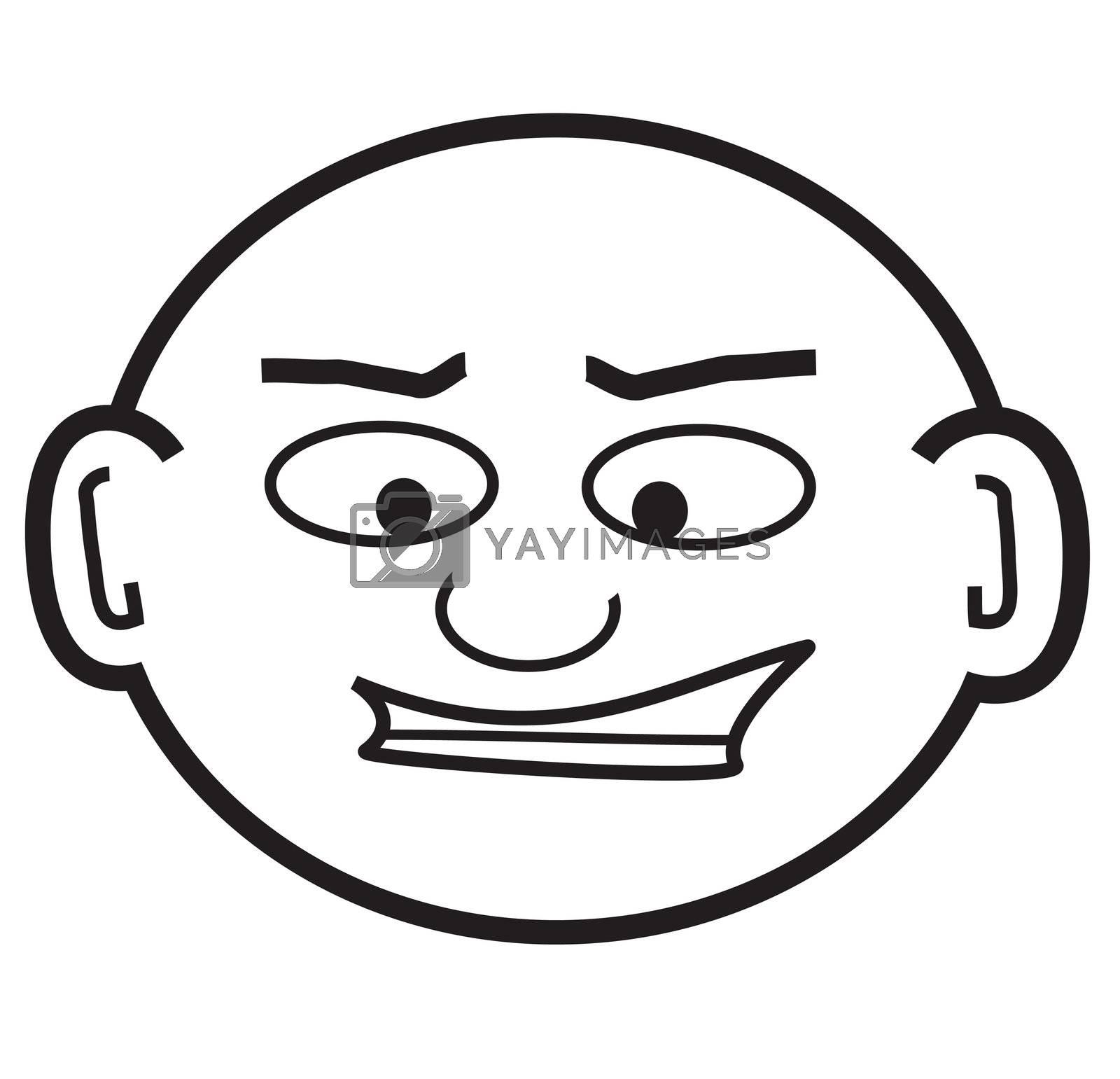 a punk-ish looking cartoon head