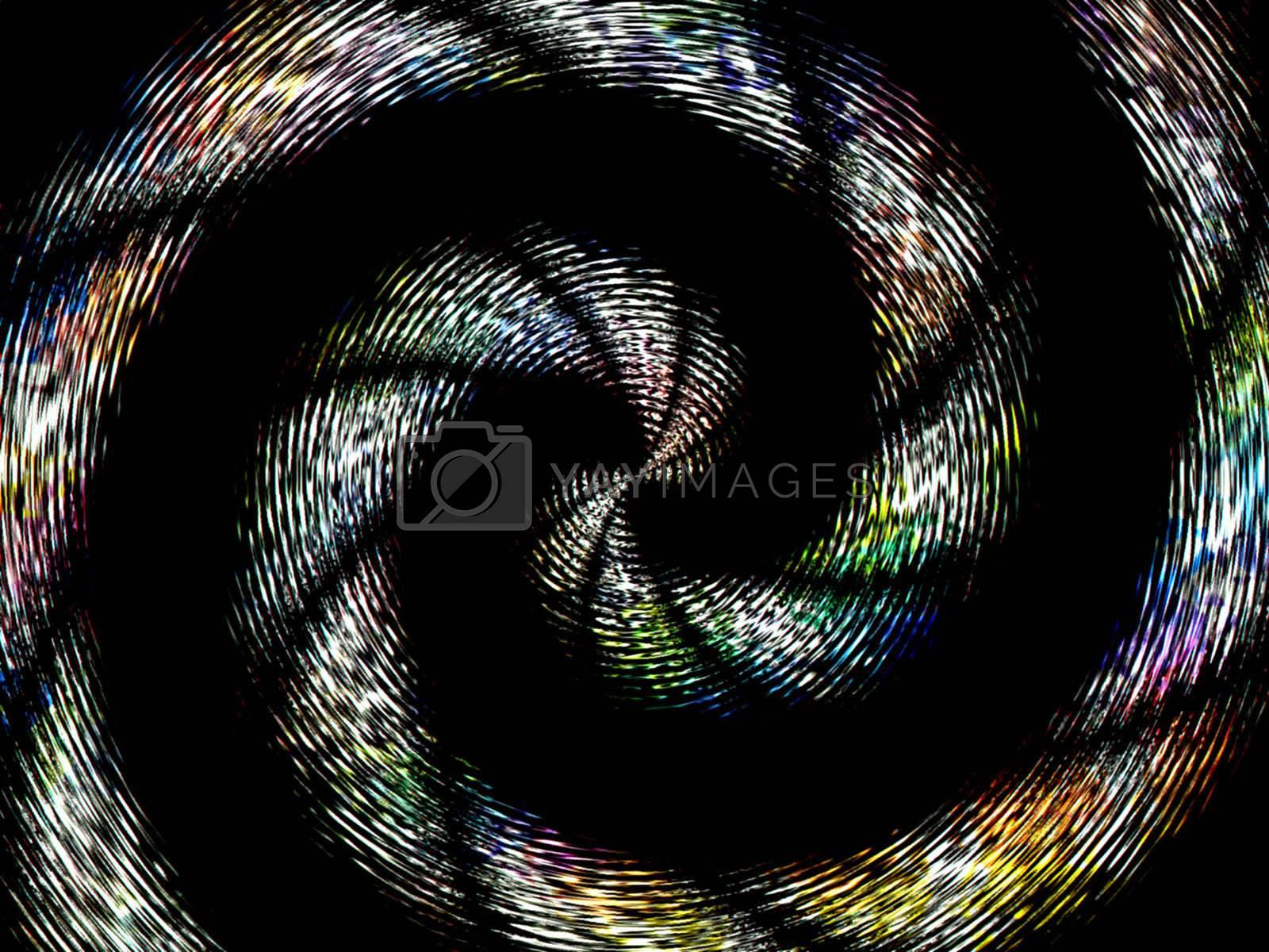 a rainbow spiral vortex