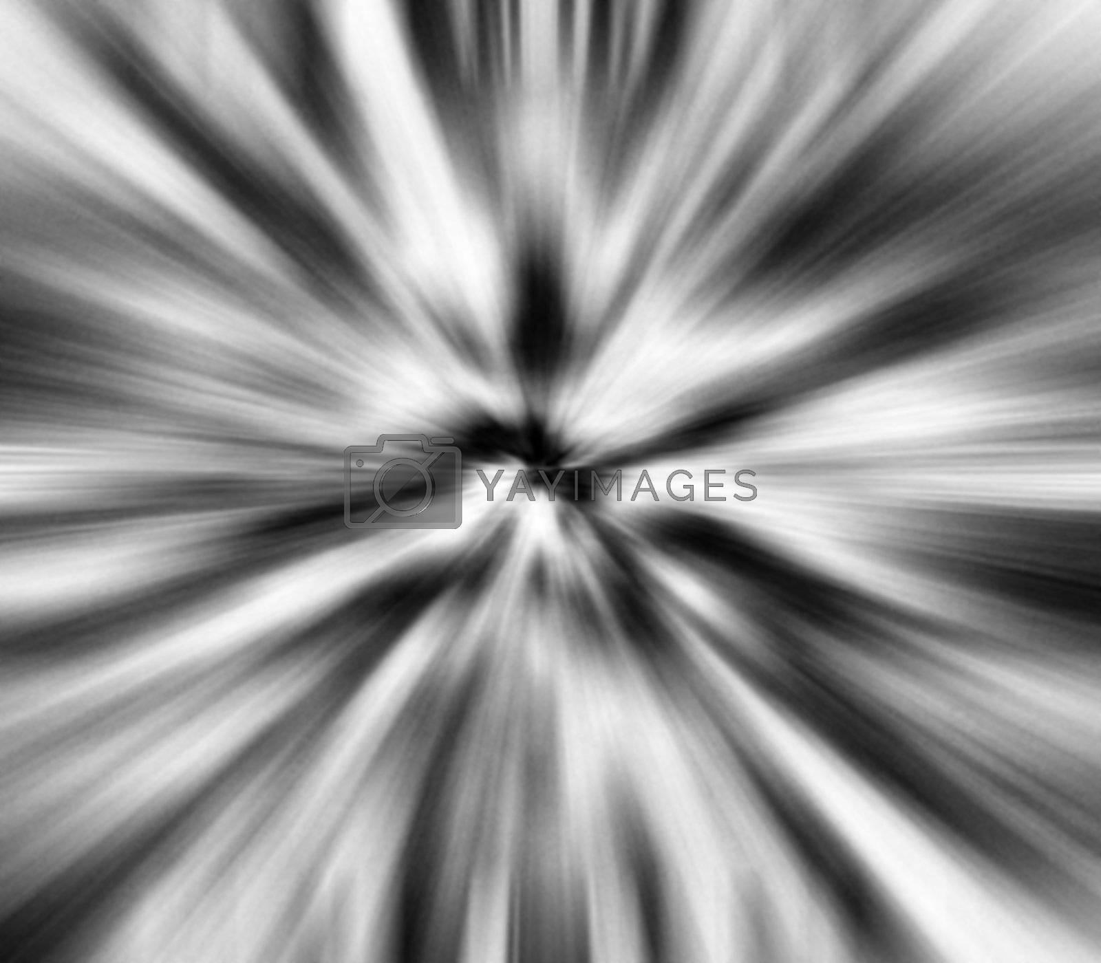 a 3d zoom blur into an endless vortex