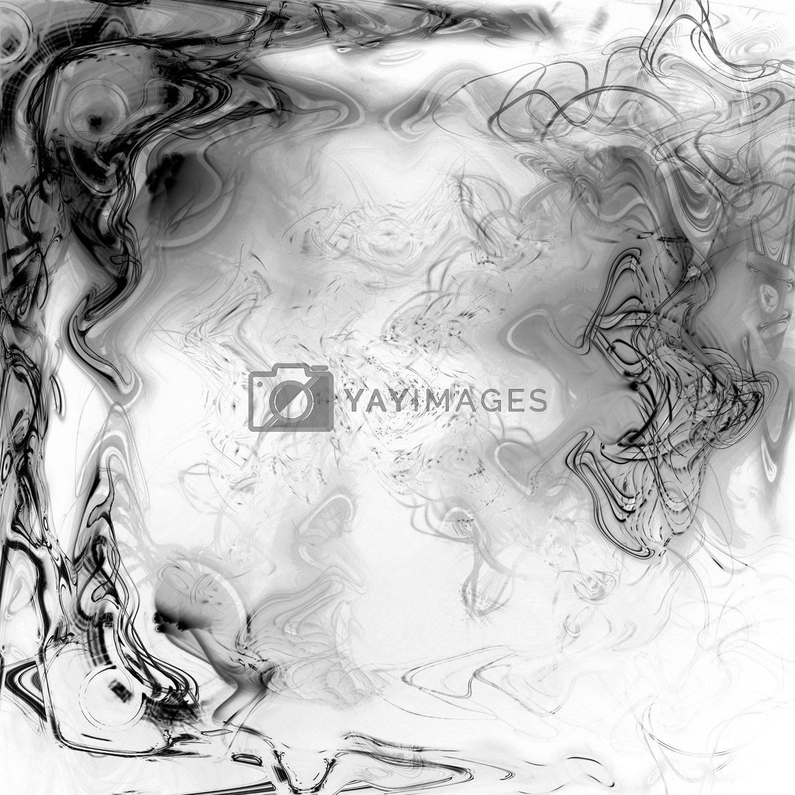 black and white liquid plasma background