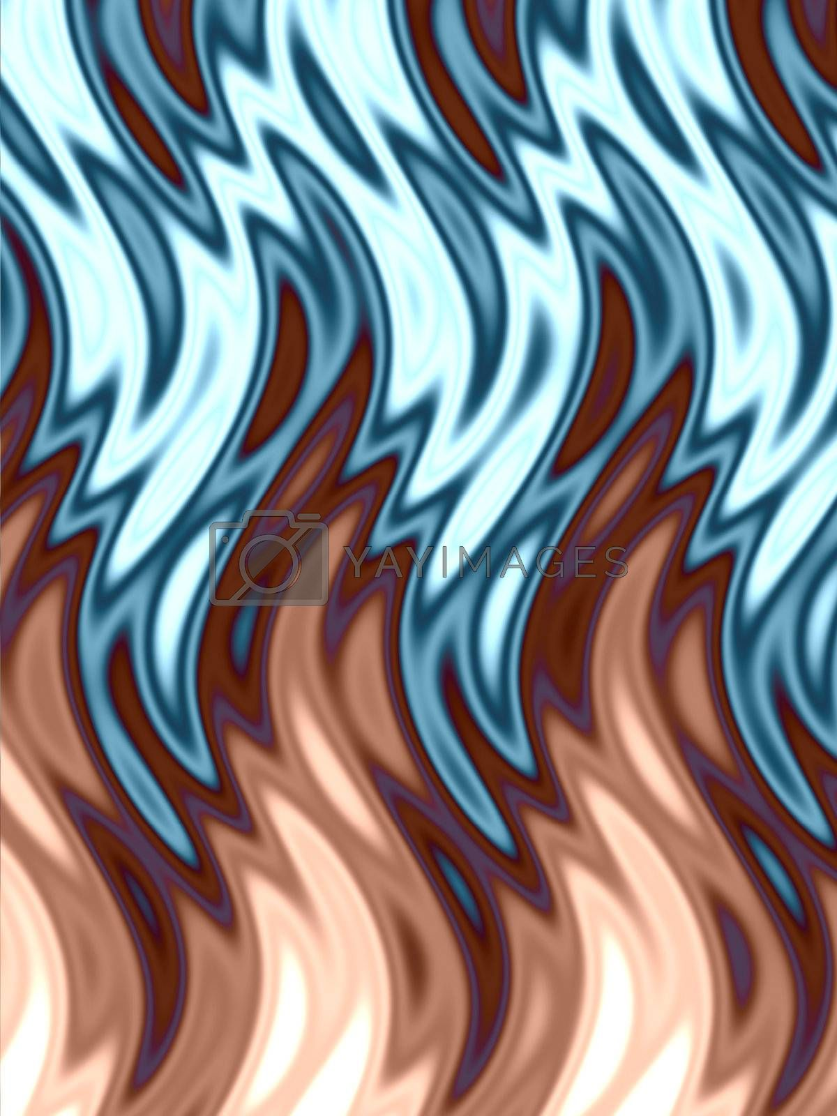 a wavy, abstract flames pattern