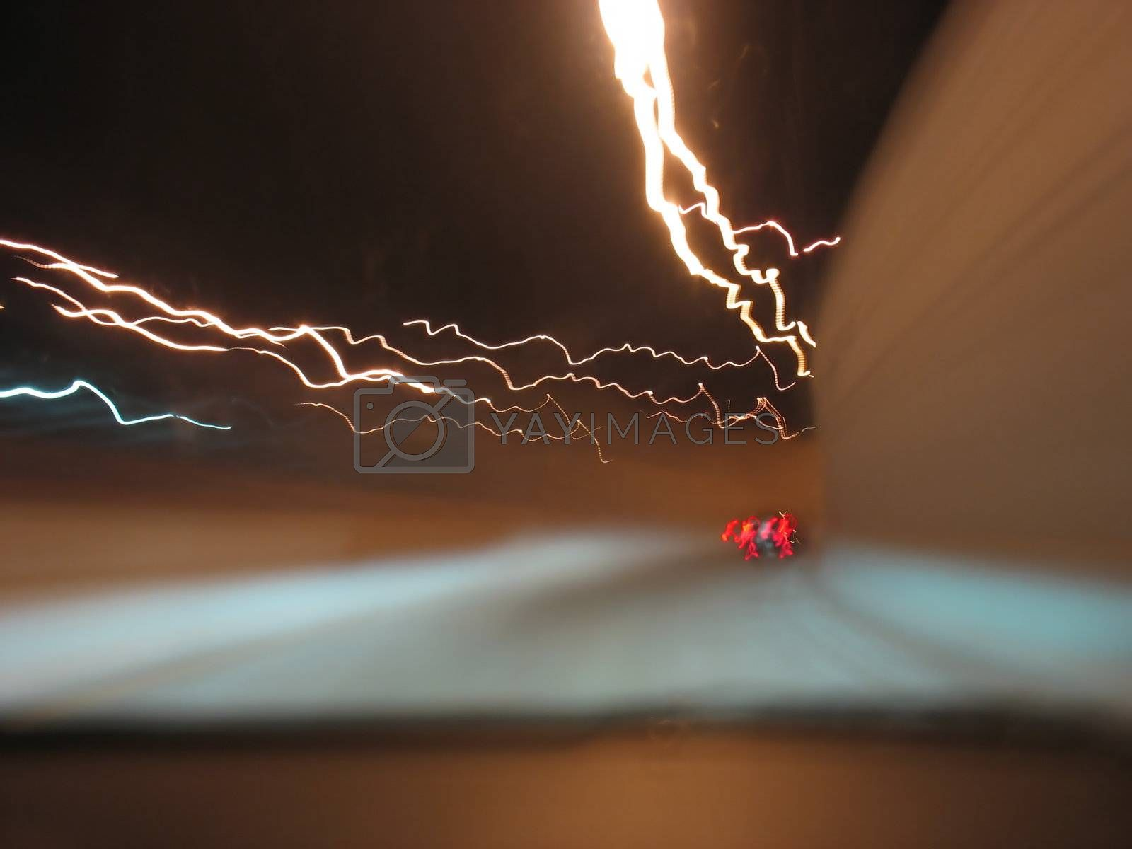 playing with light - a nightshot on the highway
