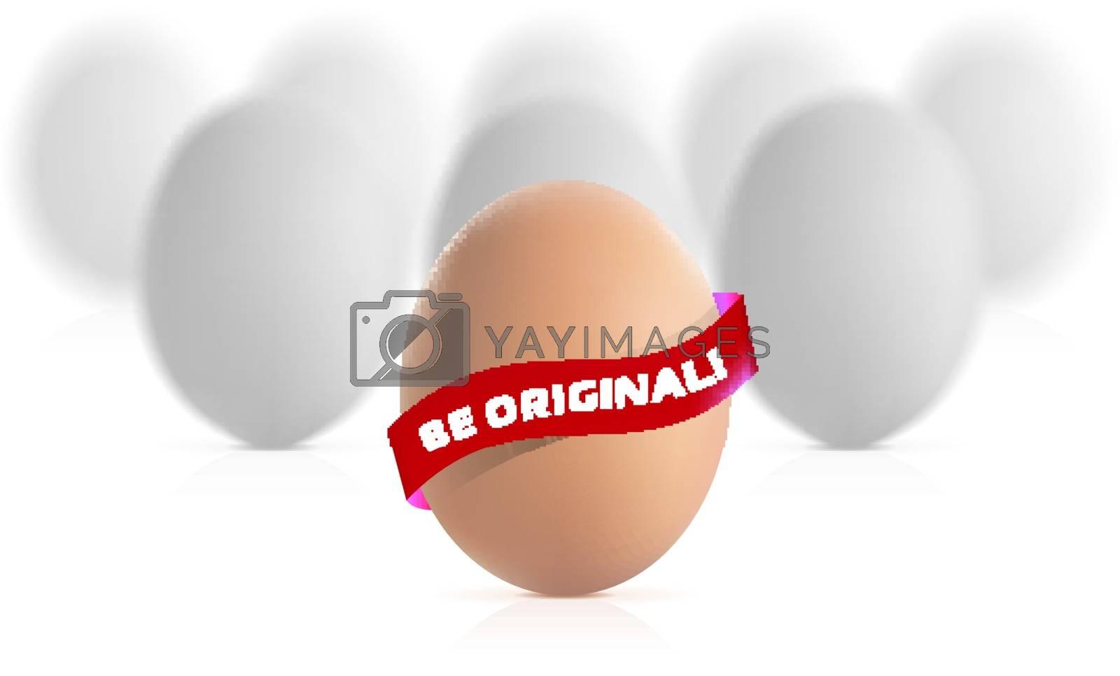 Egg concept illustration isolated on white background