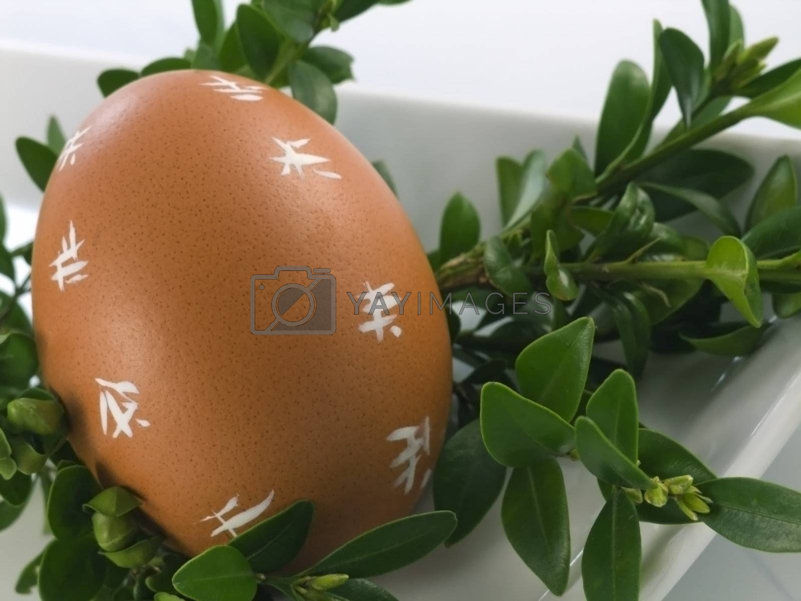 Easter Eggs isolated on a white background