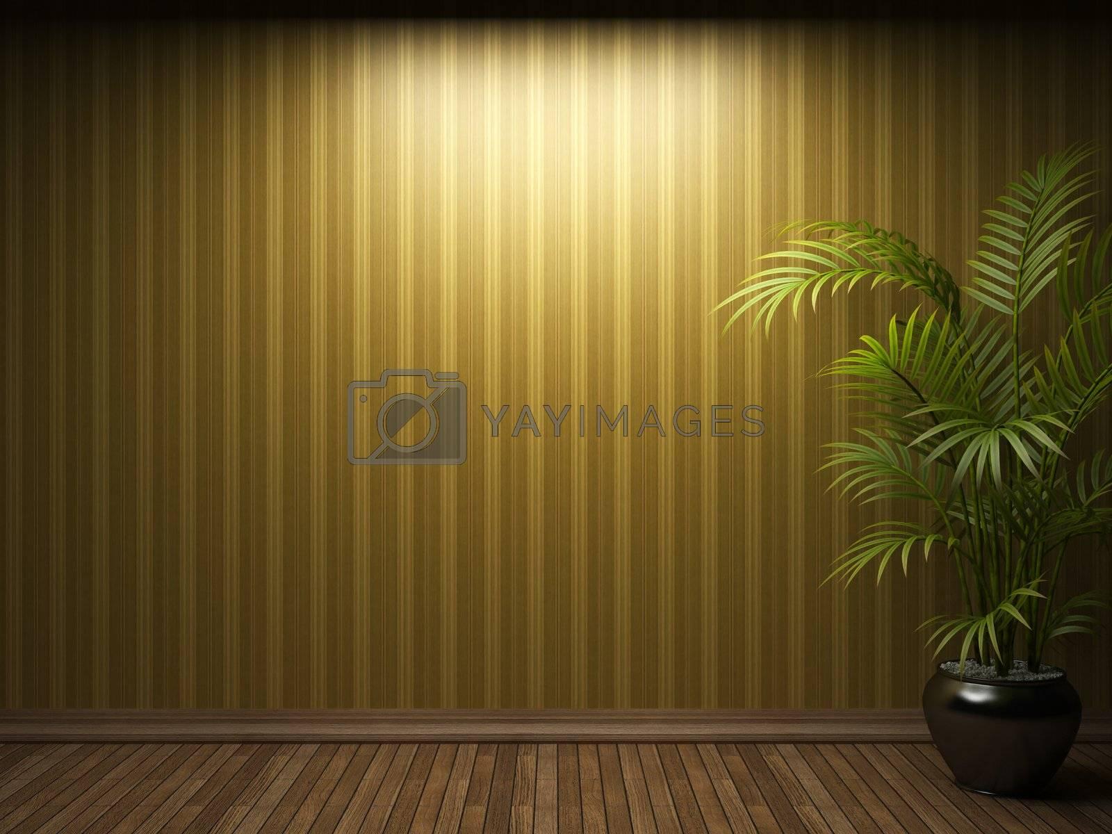 illuminated fabric wallpaper made in 3D
