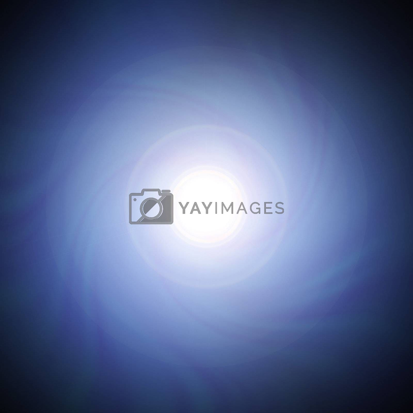 A lens flare background illustration - swirling towards a central vortex
