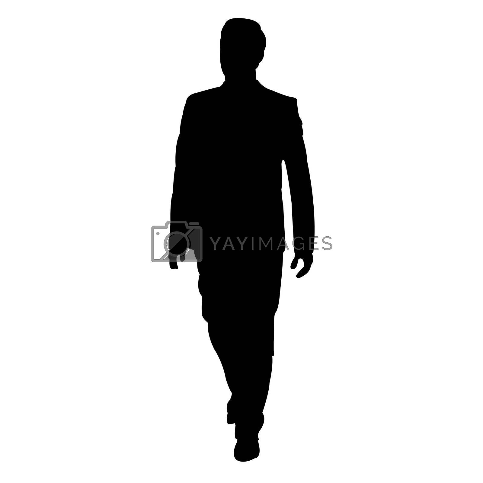 illustration of business man on white background