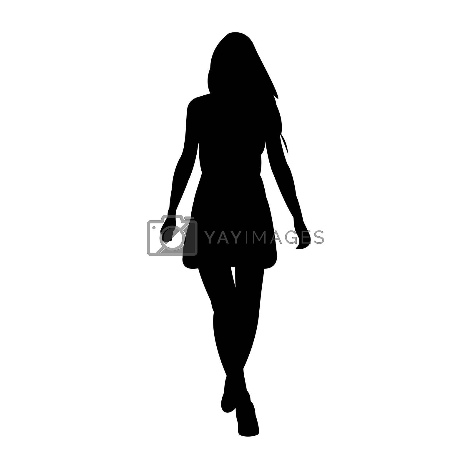 illustration of fashion lady on white background