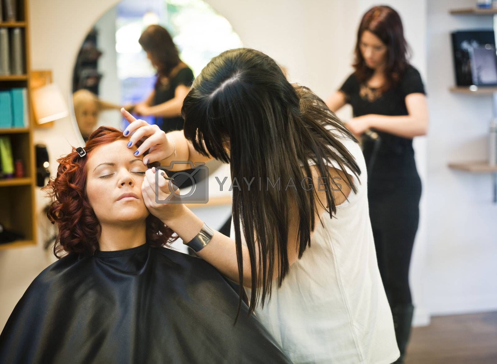 Make-up situation in a Beauty spa