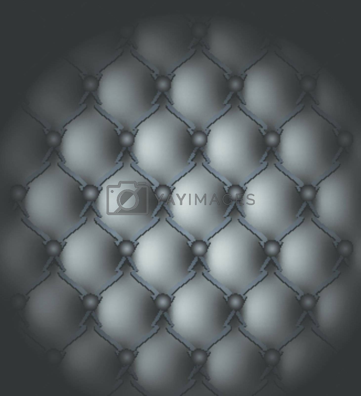 Black genuine leather upholstery pattern vector illustration