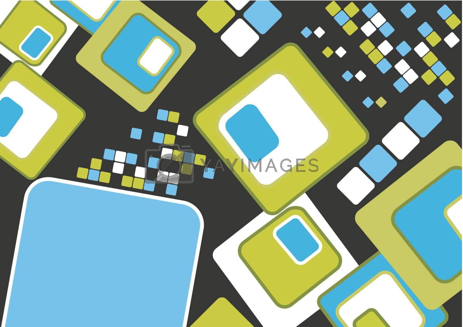 Abstract puzzle background decor element vector illustration for poster