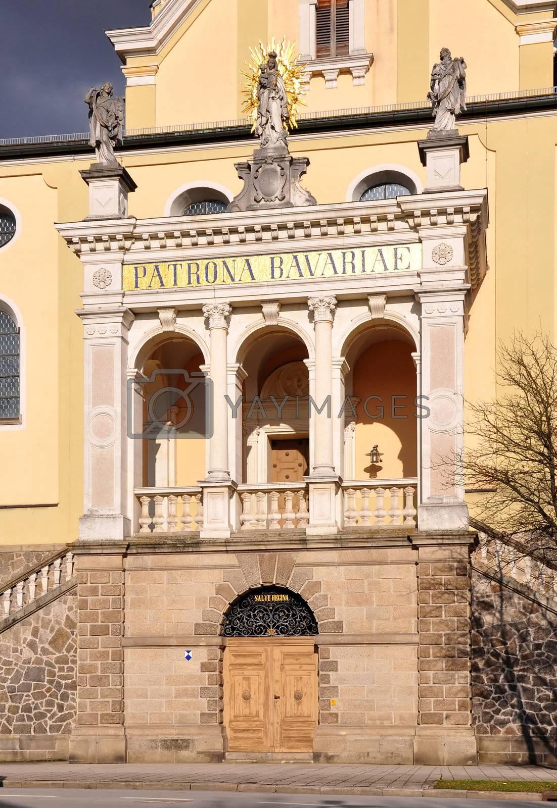 Portal of church Maria Himmelfahrt in Deggendorf, Bavaria