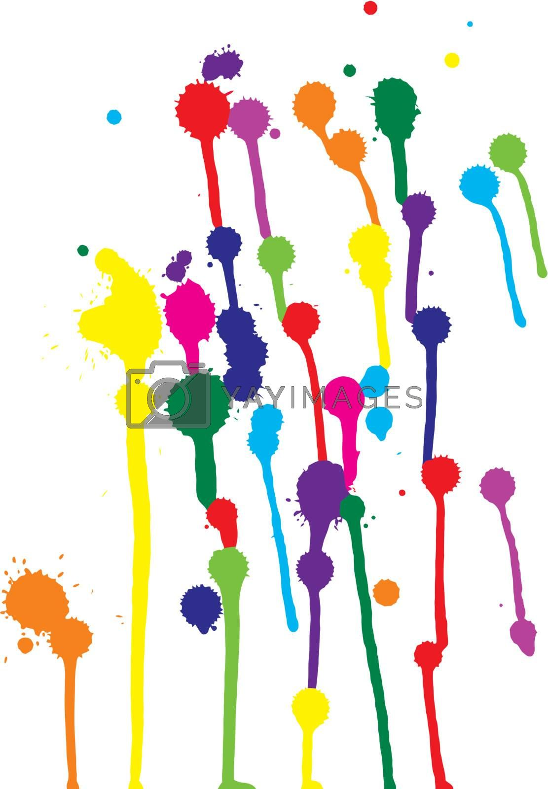 vector colorful blots on a white background