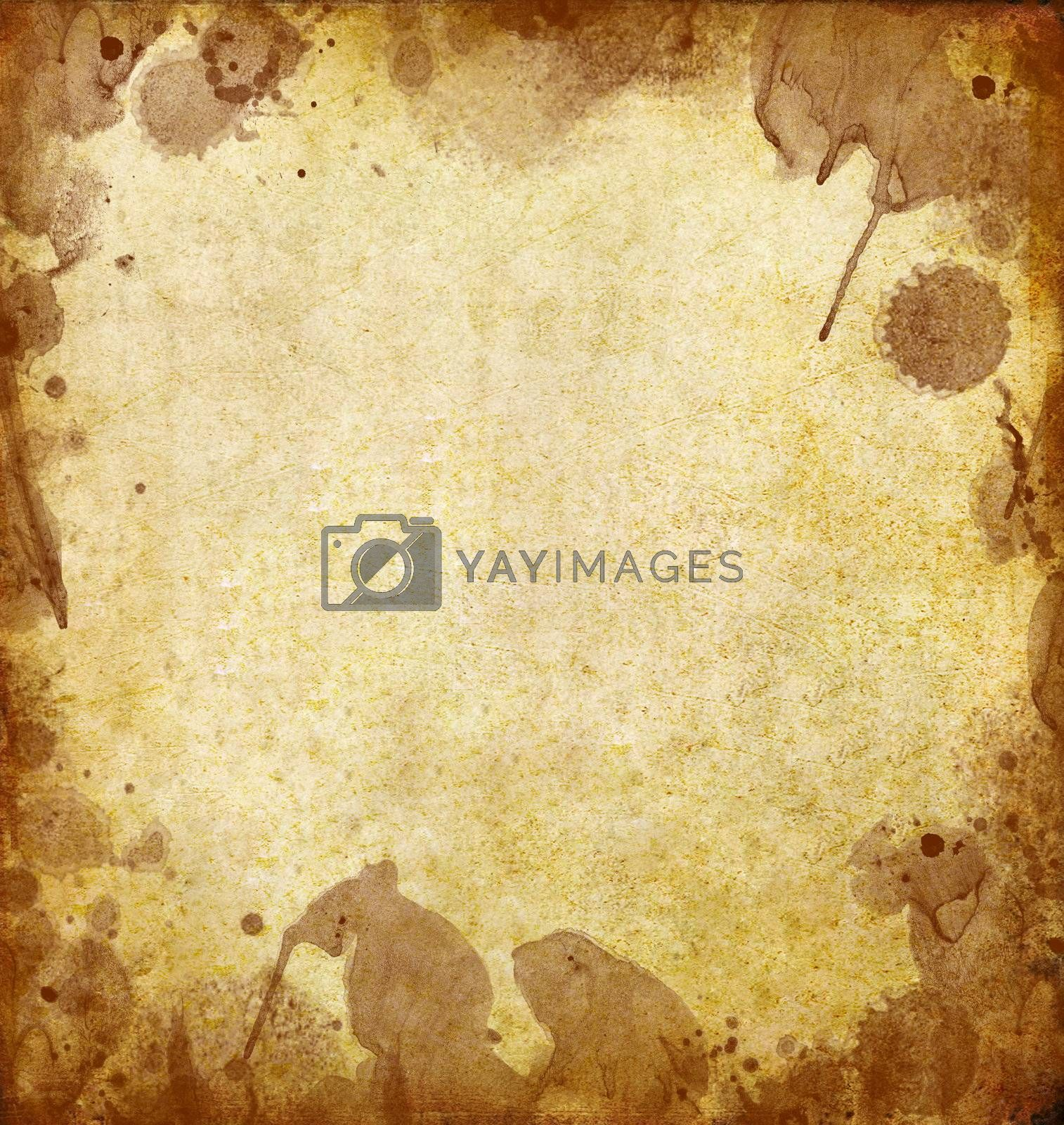 old grunge paper with dirty stained