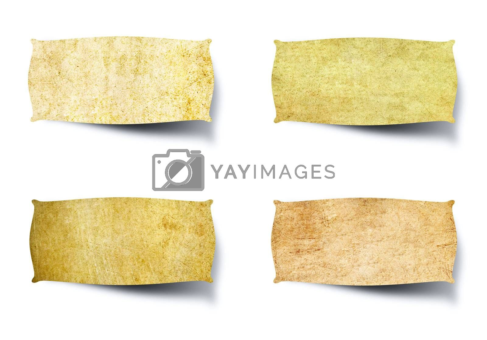 tag vintage paper isolated on white background