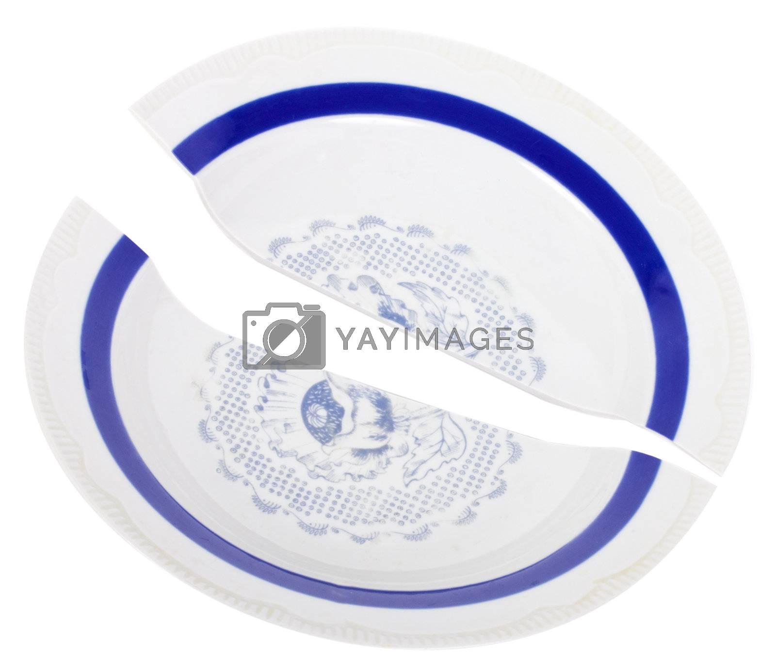 broken plate by Alekcey