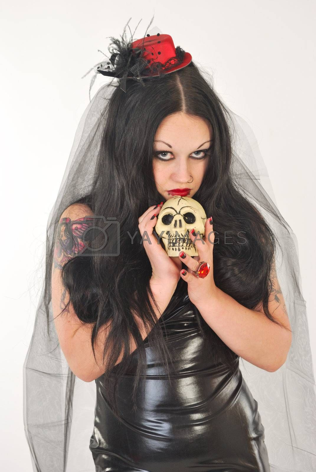 Bride of satan with skull by pauws99