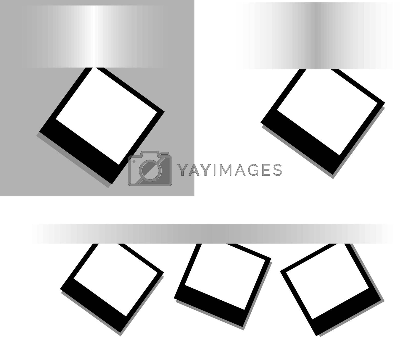 set of Photos on a gray surface