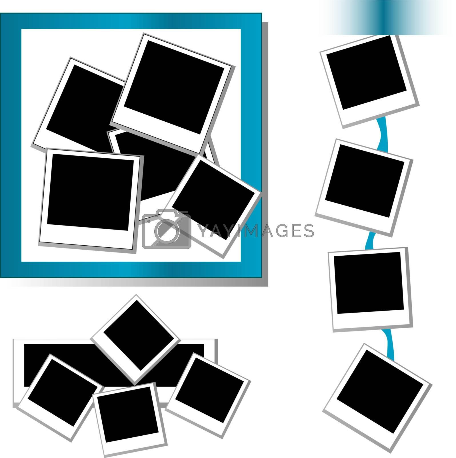 set of Photo frames background and border isolated