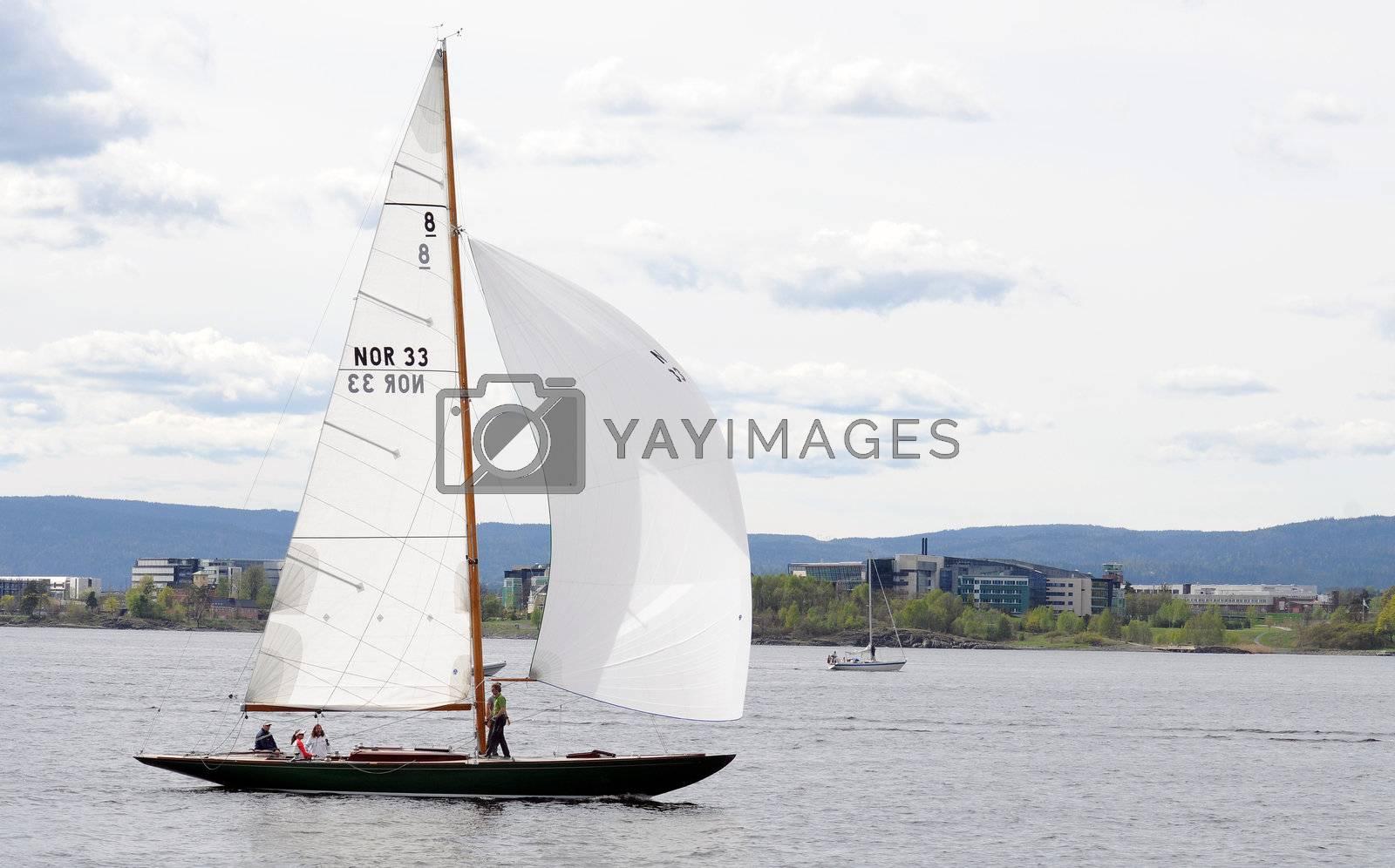 Sailboat in Oslofjord Norway