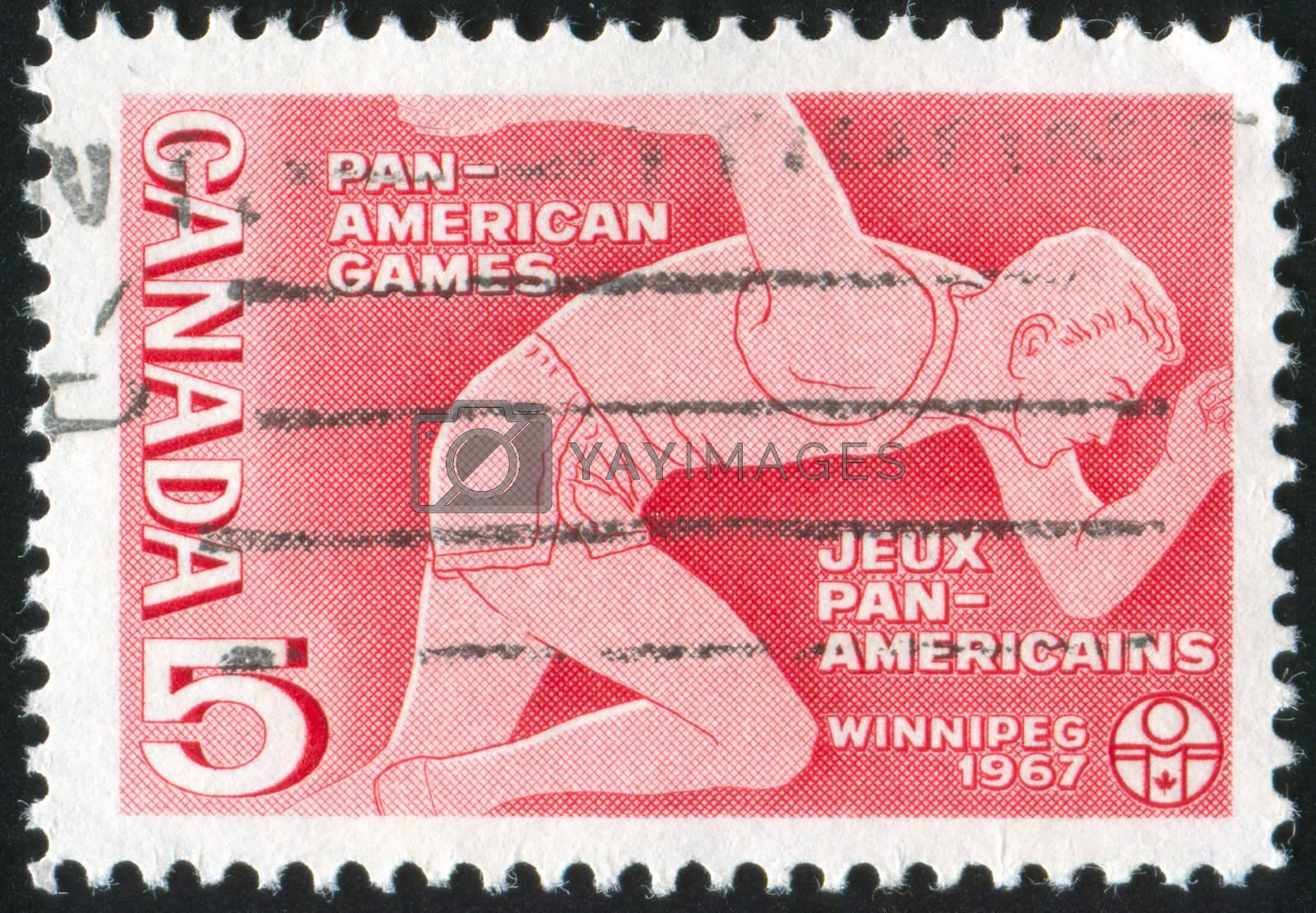 CANADA - CIRCA 1967: stamp printed by Canada, shows Runner, circa 1967