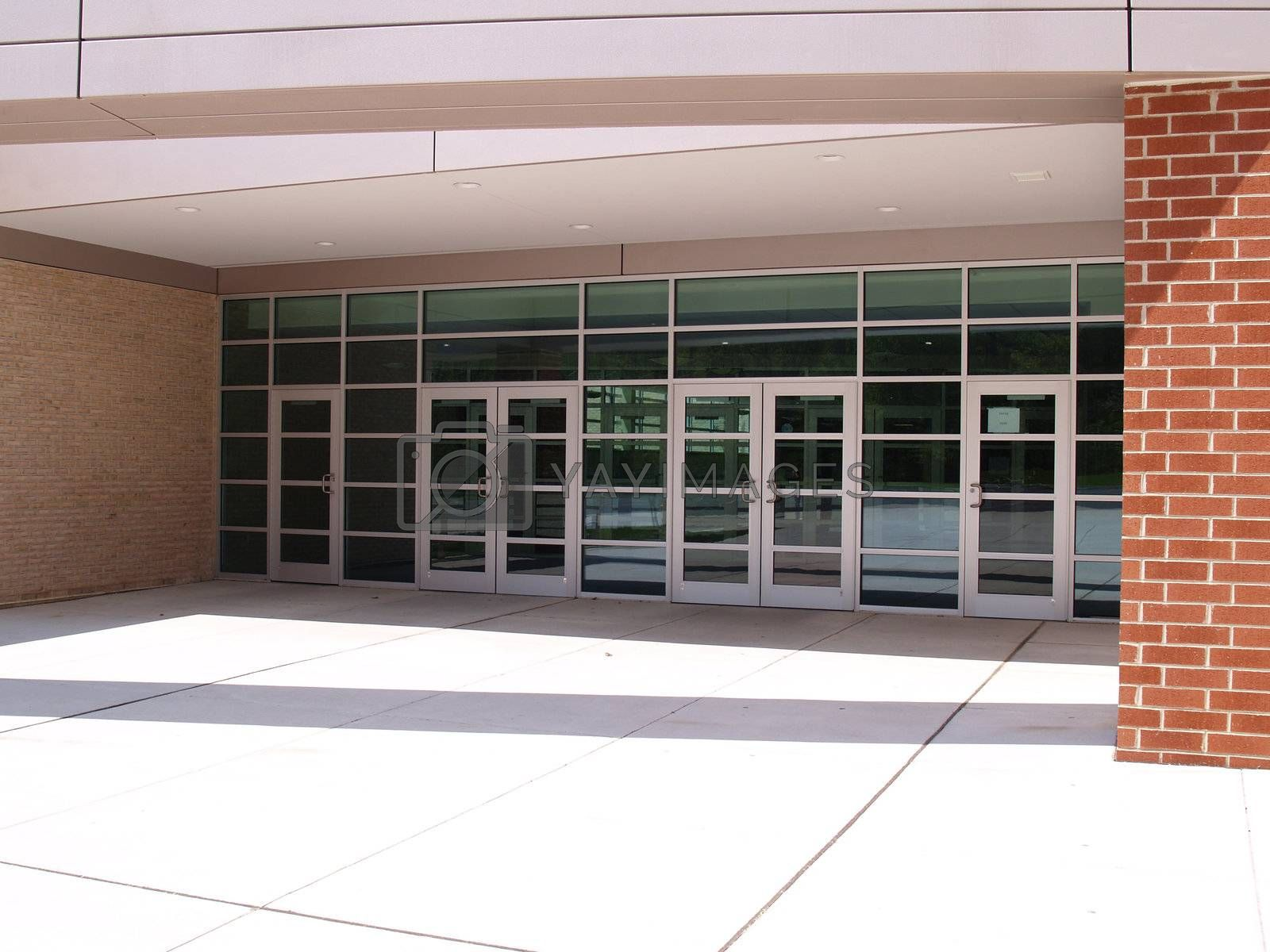 front entry for a modern building