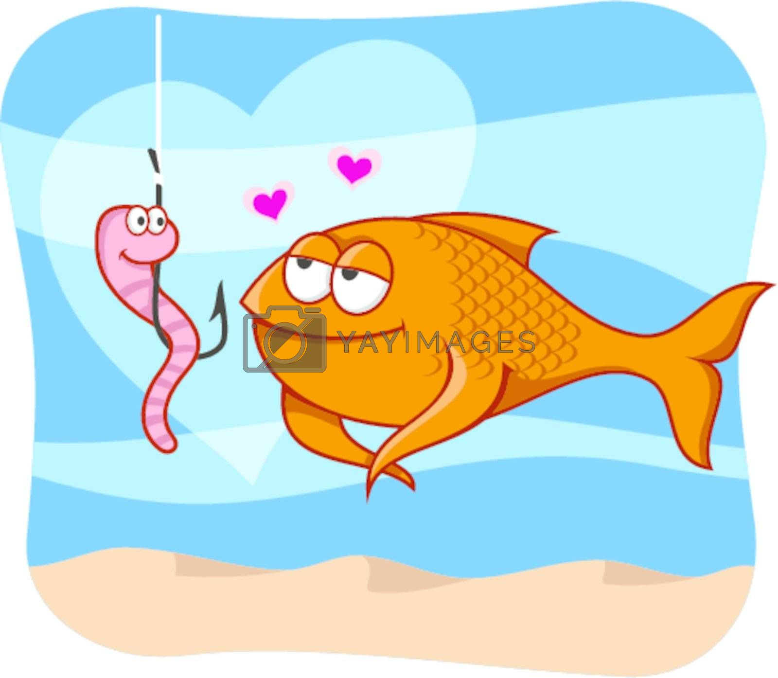 Fish and bait in love by sifis